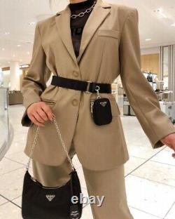 NEW! Auth Prada Re-edition 2005 Black Nylon Tessuto Shoulder Crossbody Hobo Bag