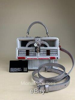 NEW DOLCE & GABBANA Limited Edition Runway Retro Jukebox Wooden Box Bag Purse