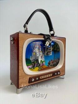 NEW DOLCE GABBANA Limited Edition Runway Retro TV Handmade Wooden Box Bag Purse