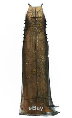NEW LIMITED EDITION RARE EMILIO PUCCI FULLY BEADED and EMBROIDERED GOWN 42