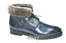 NEW SANTONI Boots Fur LIMITED EDITION Shoes Size Eu 40 Uk 6 Us 7 (Led14)