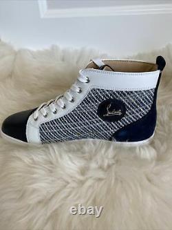 NIB Christian Louboutin Mens Louis Orlato High Top Sneaker Version Multi 44.5