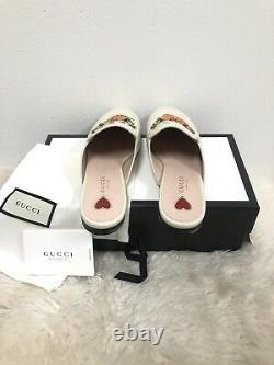 NIB GUCCI Princetown Limited Edition Strawberry Brixton Mule Loafer Flat 38
