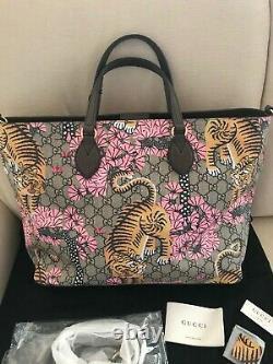 NWT A uth Gucci GG Bengal Tiger Tote Limited Edition Supreme Bag Handbag