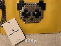 NWT Les Petits Joueurs Special Edition LEGO Panda Leather Clutch Handbag $545