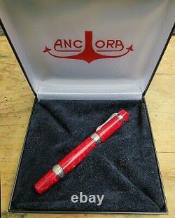 New Ancora Red Marbled PERLA Limited Edition # 246/500 MEDIUM 18k Nib