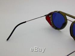 New FENDI FF M0012/S 1EDKU Matte Green Runway Aviator Sunglasses Limited Edition