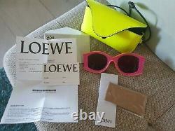 New LOEWE Paulas Ibiza Pink Eyewear Sunglasses Men Women special edition