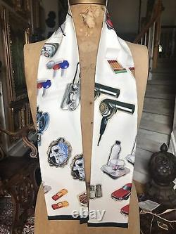 New Limited Edition LOUIS VUITTON STICKERS BANDEAU 100% Silk Scarf Bandana