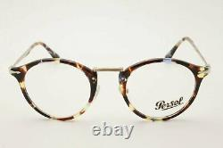 New Persol Eyeglasses 0PO 3167 1058 Azure Havana Calligrapher Edition 49-22-14