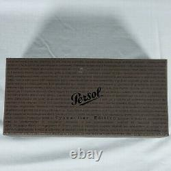 New Persol PO3108S Typewriter Edition 47mm Unisex Sunglasses Striped Brown 2N