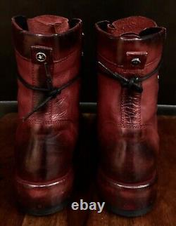 New Rare Freebird Special Edition (italie) Red Black Lace Up Ankle Boots Size 8