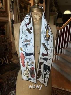 New withBox Limited Edition LOUIS VUITTON VOYAGE BANDEAU 100% Silk Scarf Bandana