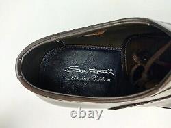 Nib Santoni Limited Edition Dark Brown Museum Calf Bentivegna Oxfords Lobb Us11