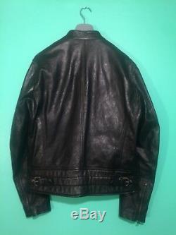 Nwt Belstaff Ss17 Steve Mcqueen Edition Star Moto Biker Leather Jacket Us Men 40