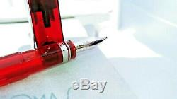 OMAS 360 Vintage Limited Edition 360 Red Demonstrator Fountain Pen, Broad