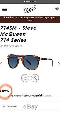 PERSOL Steve McQueen Edition with Polarized Lenses. Retails for $480 (see pic)