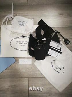 PRADA Nylon Re-Edition 2005 Shoulder Bag/Black