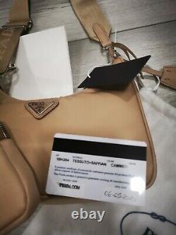 PRADA Nylon Re-Edition 2005 Shoulder Bag/Cammeo