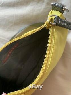 PRADA Nylon Yellow Cedro Shoulder Handbag Bag Like Re Edition NEW WITH TAGS