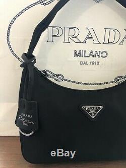 PRADA Re-Edition 2000 Nylon Mini Bag Black With Dust Bag