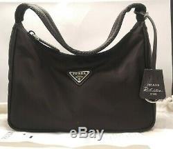 PRADA Re-Edition 2000 Nylon Mini Bag Black With Dust Bag + Store Receipt