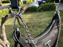 PRADA Re-edition 2005 Nylon Crossbody Black Bag