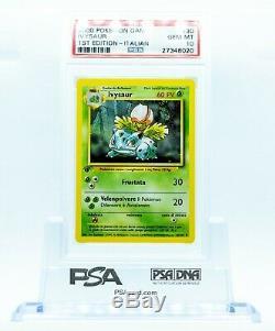 PSA 10 ITALIAN Ivysaur #30 1st Edition Pokemon Card GEM MINT 10 POPULATION 3