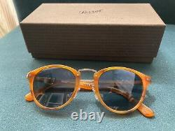 Persol PO3108S Typewriter Edition Unisex Sunglasses Striped Brown