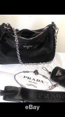 Prada Nylon Bag Crossbody Purse 2005 Re Edition 100% New 100% Authentic 1bh204