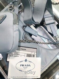 Prada Nylon Bag Crossbody Purse 2005 Re Edition 100% New 100% Authentic blue