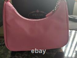 Prada re-edition 2005 pink nylon bag