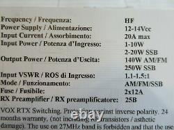 RM ITALY KL300P 25-30 MHz AMPLIFIER. NEWEST EDITION 250 WATTS PEP. (USA)