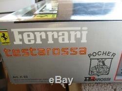 Rare Pocher Ferrari Testarossa Model Kit Rivarossi K/53 Limited Edition 1/8 Nib