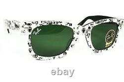Ray Ban RB 2140 1047 Wayfarer Special Serie Comic Series Rare Edition Sunglasses