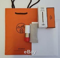 Rouge Hermes Paris Hermès Limited Edition Poppy Lip Shine Shimmer Pearl Lipstick