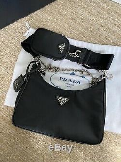 SOLD OUT Genuine BNWT Prada 2005 Re-Edition Hobo Bag in Black Nylon