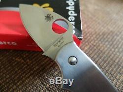 SPYDERCO SQUEAK TI Limited-Edition TITANIUM Handles, ELMAX Blade, Unused in Box