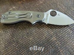 SPYDERCO SQUEAK TI Limited-Edition Titanium Handles, ELMAX Blade, New in Box