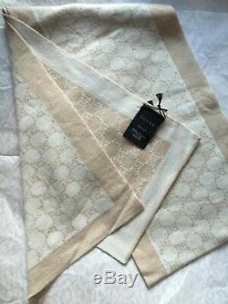 Sales limited edition New Gucci Wool Polina Scarf 23x180cm made in Italy