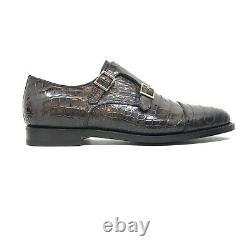 Santoni Limited Edition Blue Crocodile Leather Mens Shoes, MSRP $5900