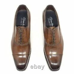 Santoni Limited Edition Brown Leather Mens Shoes, MSRP $1750