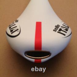 Selle Italia Flite Team Edition White Red manganese Rail Saddle New