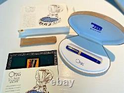 Special Edition Omas Roma 2000 Giubileo Double Faceted Royal Blue Fountain Pen