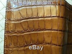 Tom Ford Mens $1500 Cognac Alligator Limited Edition Wallet Newwtag Italy