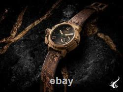 U-Boat Chimera Green Bronze Automatic Watch, Black, 46 mm, Limited Edition, 8527