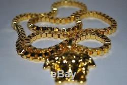 VERSACE Chain Necklace very Rare Gold Plated, Limited Edition on best price