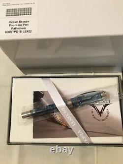 Visconti Limited Edition Ocean Breeze Fountain Pen 23kt Palladium Medium Nib