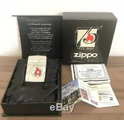 Zippo 75th Anniversary lighter limited edition swarovski 2007 Italy from japan