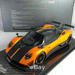 1/18 Peako Modèle Pagani Zonda Cinque Orange Base Carbon Special Edition